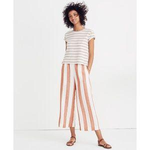 Madewell Huston Crop Pants in Evelyn Stripe